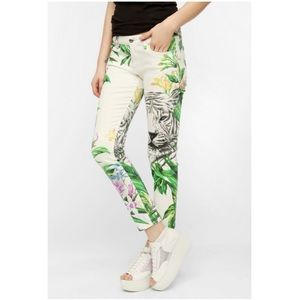 Blank NYC Tiger Floral Mid Rose Cigarette Jean 29